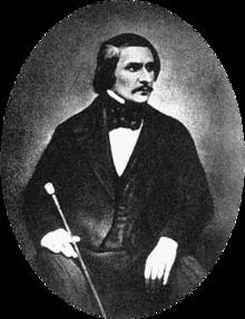 Daguerreotype of Gogol taken in 1845 by Sergey Lvovich Levitsky (1819–1898)