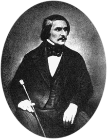 Daguerreotype of Gogol taken in 1845 by Sergey Lvovich Levitsky (1819–1898)