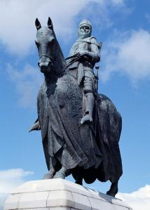 A statue of Robert the Bruce, King of Scots, at the Bannockburn memorial.