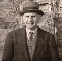 John Crowe Ransom at Kenyon College in 1941. Photo by Robie Macauley.
