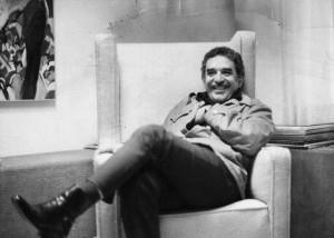 Gabriel Garcia Marquez in 1976, nine years after the publication of One Hundred Years of Solitude and six years before he was awarded the Nobel Prize for literature.