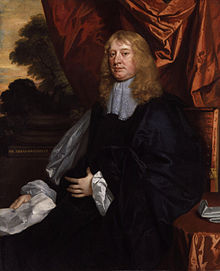 Abraham Cowley, portrait by Sir Peter Lely
