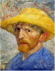 Vincent van Gogh Autorretrato con sombrero de paja