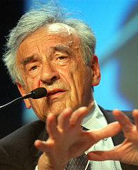 Elie Wiesel en el Foro Económico Mundial en 2003