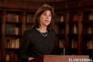 La ministra de Asuntos Exteriores de Colombia, María Ángela HolguínAP