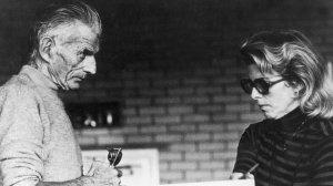 Billie Whitelaw with Samuel Beckett