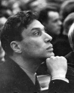 Pasternak at the first Congress of the Union of Soviet Writers in 1934.
