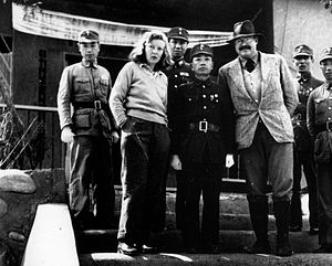 Martha Gellhorn and Ernest Hemingway with General Yu Hanmou, Chungking, China, 1941