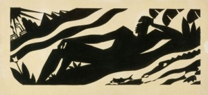 Aaron Douglas, The Negro Speaks of Rivers (For Langston Hughes), 1941, pen/ink on paper. Walter O. Evans Collection.