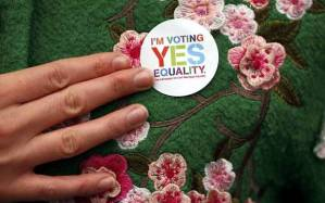 """A 'Yes"""" voter (AFP/Getty)"""