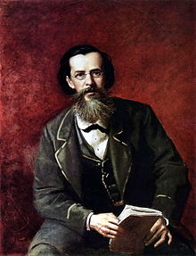 Portrait of Apollon Maykov by Vasily Perov