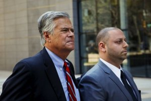 enator Dean G. Skelos, left, and his son Adam Skelos in May. They were charged on Tuesday with additional counts of soliciting bribes. Credit Eduardo Munoz/Reuters