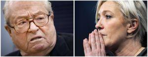 Les adhérents du parti se sont prononcés mercredi à 94 % pour la mise à l'écart de Jean-Marie Le Pen à l'occasion d'un vote qui n'a cependant aucune valeur juridique. JEAN-SEBASTIEN EVRARD,ALAIN JOCARD / AFP