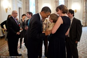 Laura Moser with Barack Obama
