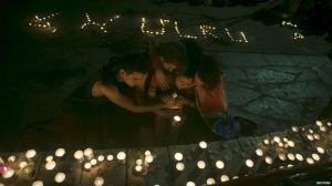 A candlelight vigil for Shira Banki in Tel Aviv on Sunday