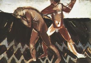 Marc Chagall. Caín y Abel (1911).