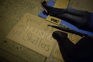 Advocates for homeless people praised the initiative but maintained that permanent housing should be addressed as well. Credit Michael Appleton for The New York Times