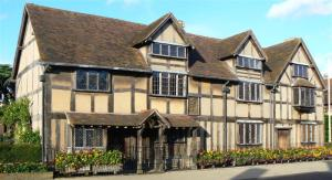 John Shakespeare's house in Stratford-upon-Avon is believed to be Shakespeare's birthplace.