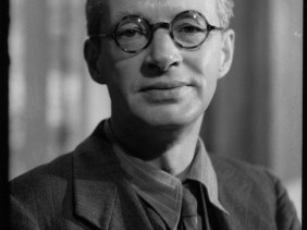 Edwin Muir by Howard Coster, quarter-plate film negative, 1945