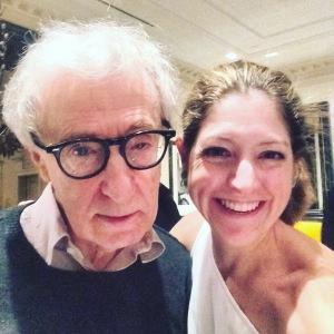 Lara Alcantara-Lansberg con Woody Allen, Nueva York, Enero 2016