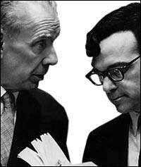 Borges and di Giovanni in New York, April 8, 1968
