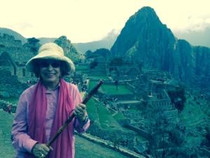 Glenna Luschei at Machu Picchu