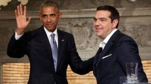 Mr Obama had supportive words for PM Alexis Tsipras on the Greek economy