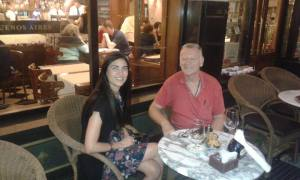 Peter Robertson, President of Interlitq, with Yamila Musa, Interlitq's Argentine Correspondent