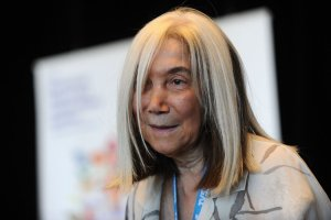 María Kodama, la viuda de Borges, es conocida por la vehemencia jurídica con la que trata a quienes se toman atribuciones con la obra de su esposo. Credit Gaizka Iroz/Agence France-Presse — Getty Images